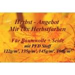 Herbst-Angebot 10x Herbsttöne - Baumwolle + Seide