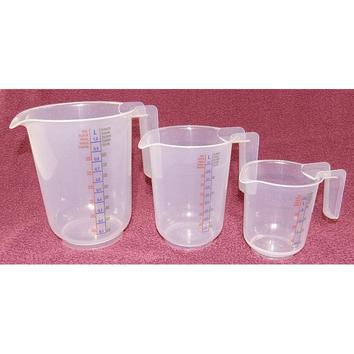Meßbecher Set 250ml/500ml/1000ml