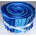 Jelly Roll - Blautöne - Handgefärbt - 24 tlg.