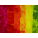 """Starter Kit Färben """"Warme Farben"""" mit 1m Baumwollstoff auch für Seide, Ramin, Zellulose, Viskose, Reyon u.a."""