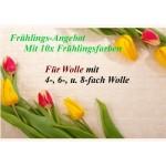 Frühlings - Angebot: 10x Frühlingstöne 15g + 6x Wolle 4-fach + MEHR!!!