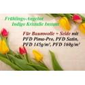 Frühlings - Angebot Baumwolle: Indigo Kristalle 25g + 4x PFD Stoffe + MEHR!!!